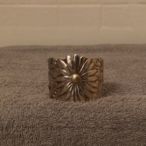 Tiffany & Co 925 Flower Wide Cuff, Small